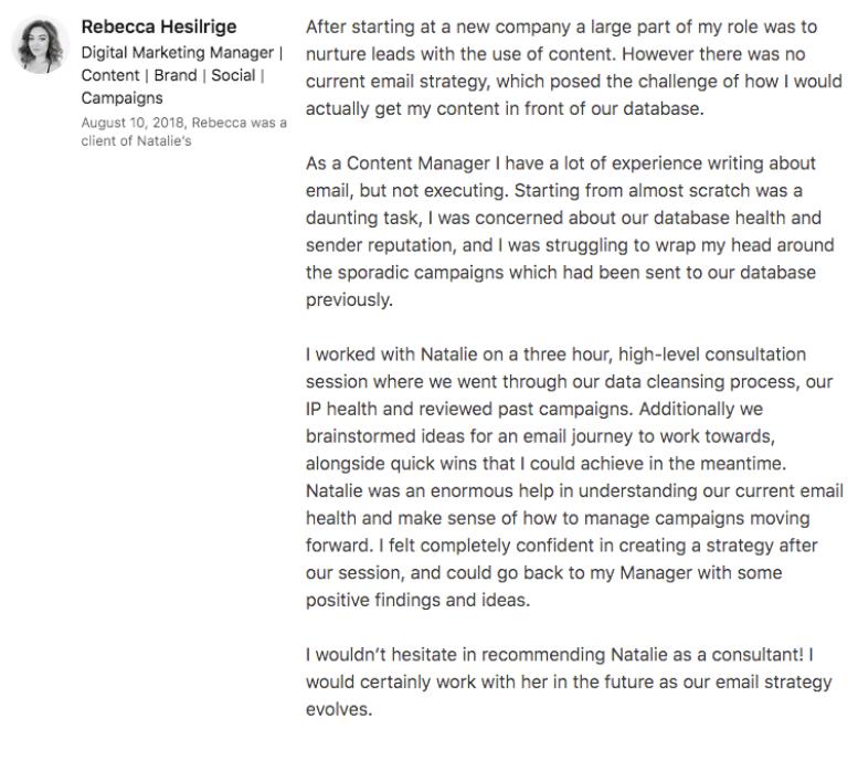 Rebecca Hesilrige Review